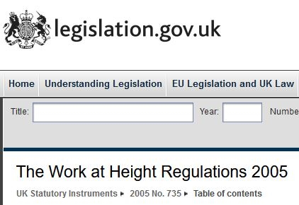Work at Height Regs